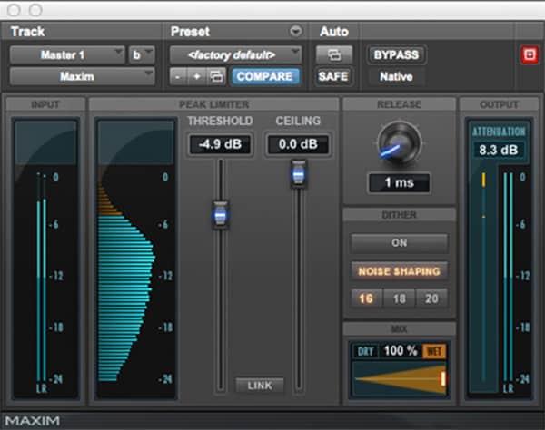 Pro Tools Maxim