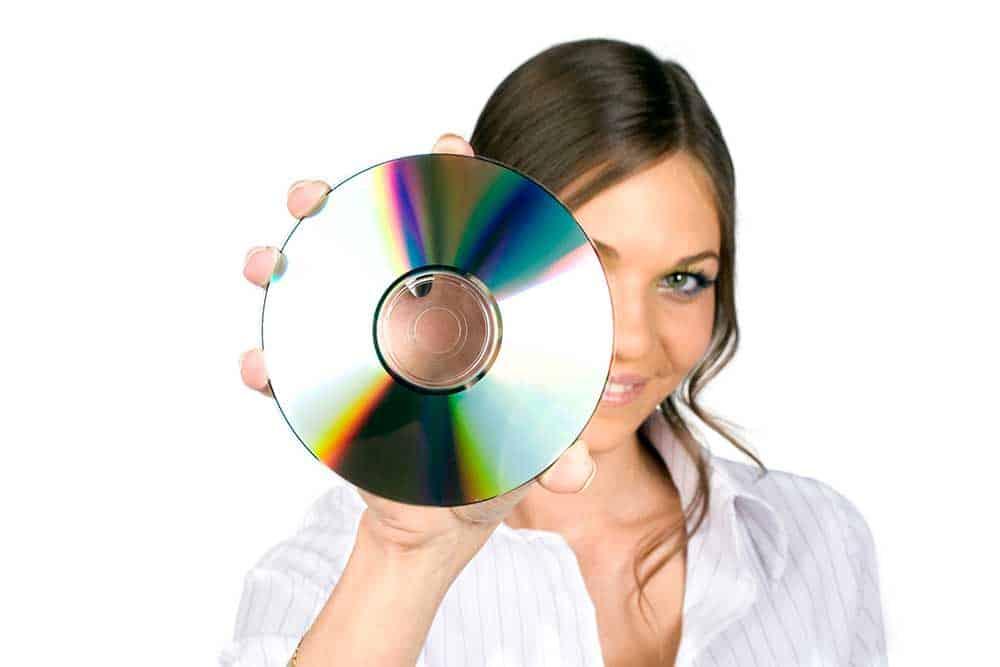 Women Holding CD